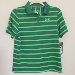 NWT Under Armour Striped Performance Polo